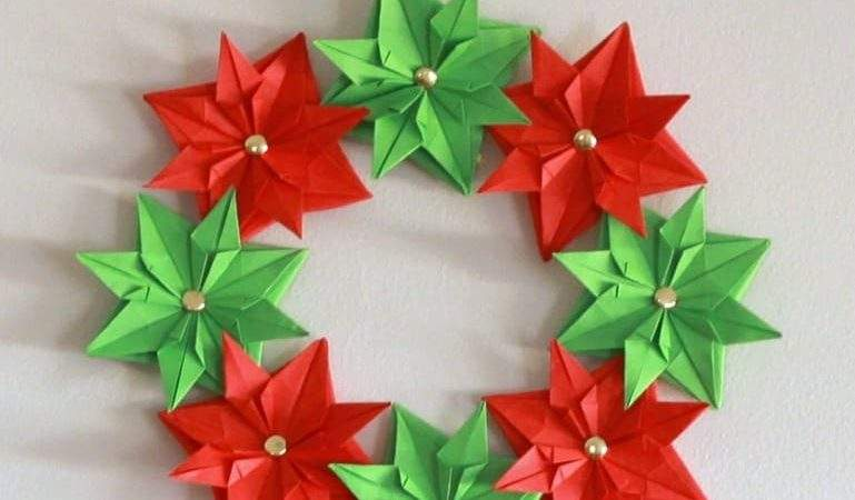 Paper Christmas Wreath Mini Tutorial Cook Clean Craft