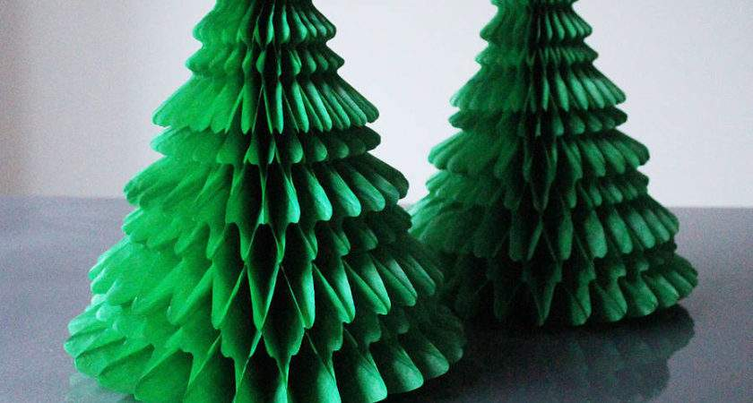 Paper Tabletop Christmas Tree Decorations Pearl