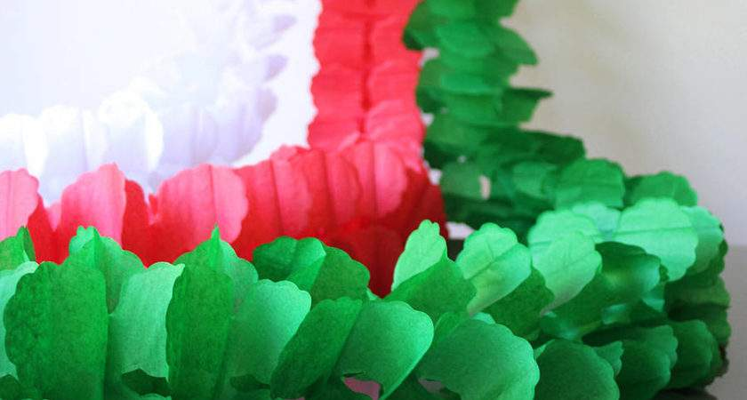 Paper Tissue Christmas Garland Decorations Pearl