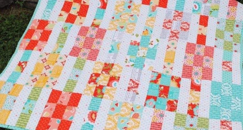 Patchwork Quilt Pattern Layer Cake Fat Quarters Simple