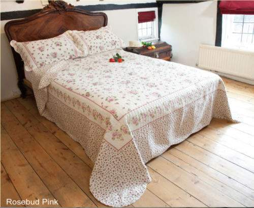 Patchwork Quilted Bedspread Bedroom Throw Double Bed New