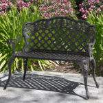 Patio Garden Bench Cast Aluminum Outdoor Yard Solid