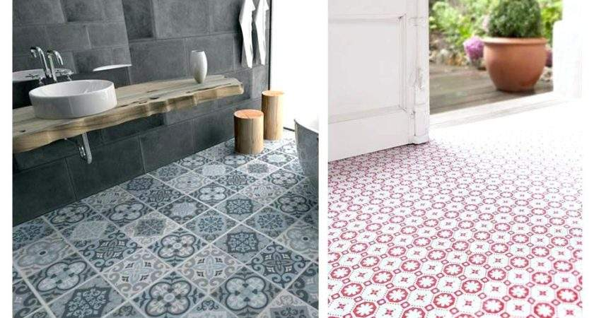 Patterned Linoleum Tiles Tile Design Ideas