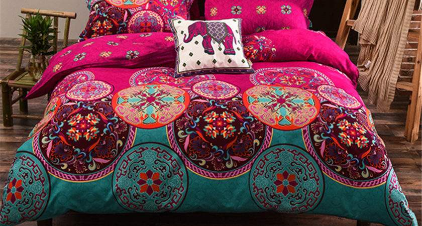 Pcs Oriental Mandala Polyester Single Double Queen