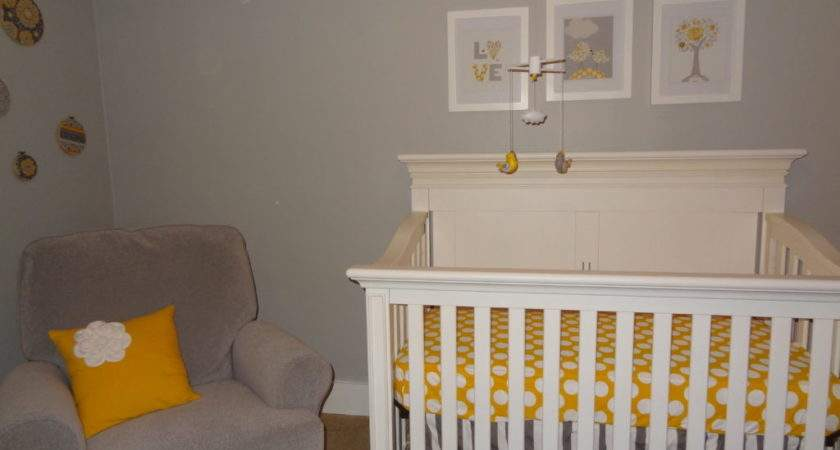 Peaceful Yellow Gray Girl Nursery Project