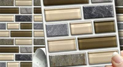 Peel Stick Stone Glass Tablet Wall Tiles Stickers