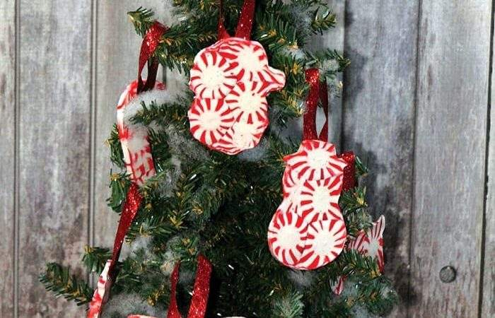 Peppermint Candy Ornaments Diy Christmas