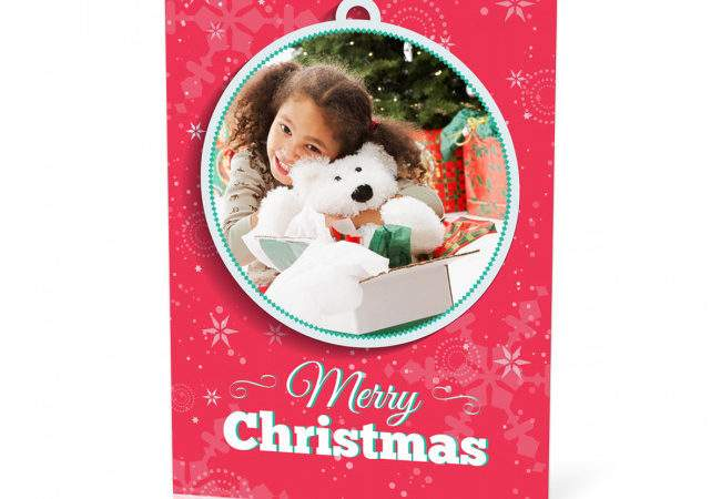 Personalised Christmas Bauble Card Max