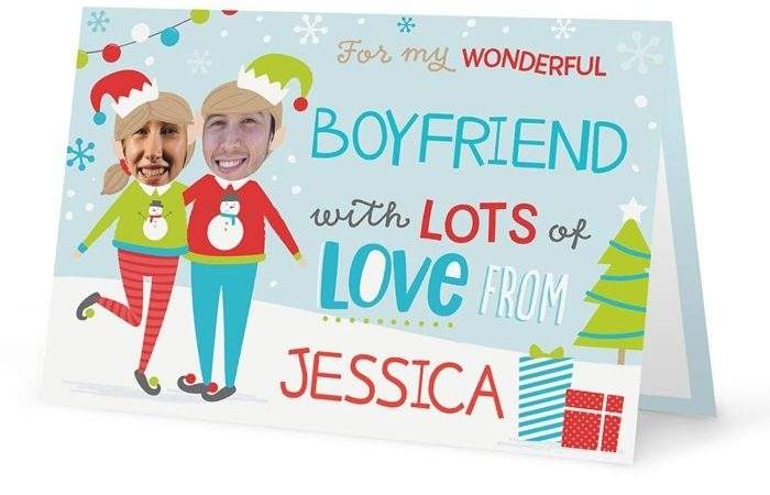 Personalised Christmas Card Elf Yourself