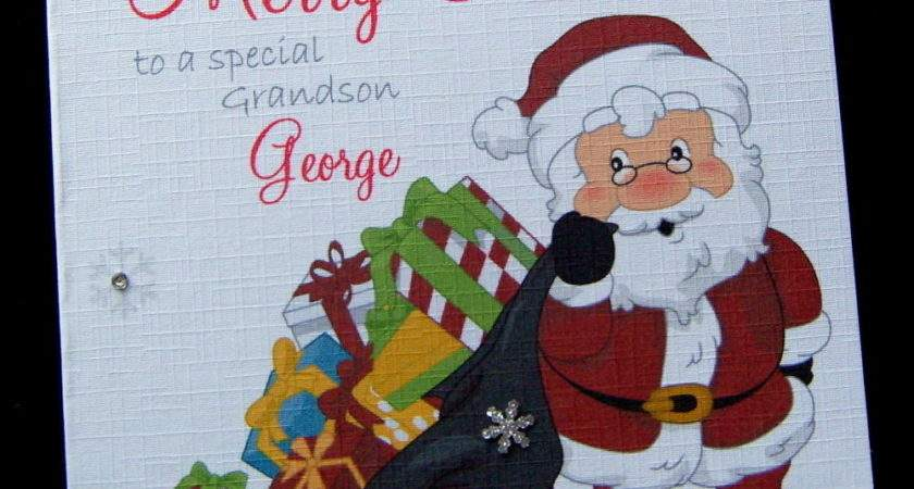 Personalised Christmas Card Grandson Son Daughter