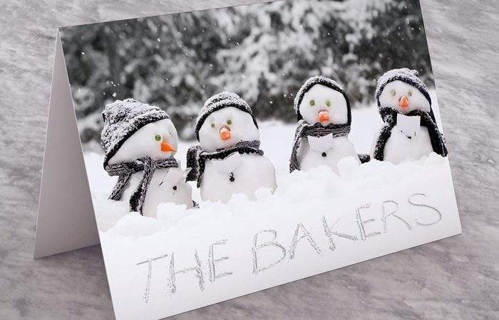 Personalised Christmas Card Snowman