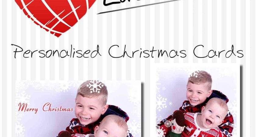 Personalised Christmas Cards Love Designs
