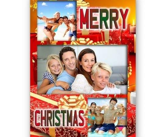 Personalised Message Merry Christmas Card