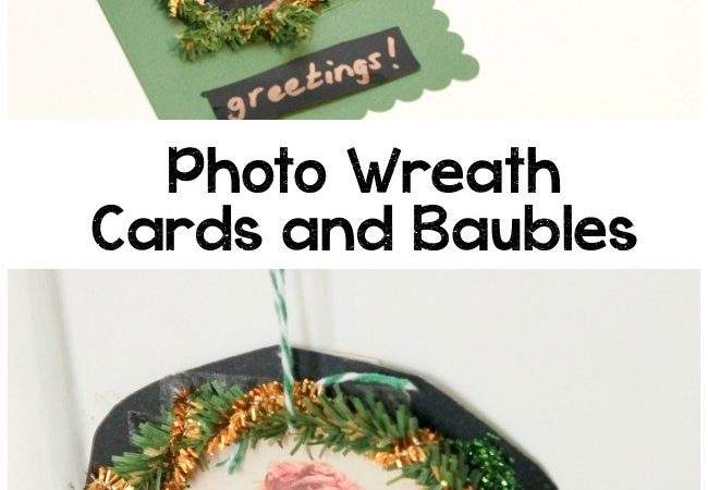 Personalised Wreath Cards Christmas Ornaments