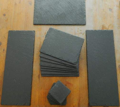 Piece Natural Slate Set Table Mats Dinner Placemats