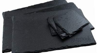 Piece Set Natural Slate Placemats Coasters Tablemat