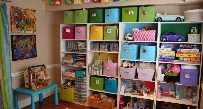 Pink Green Mama Friendly Spaces Toy Storage
