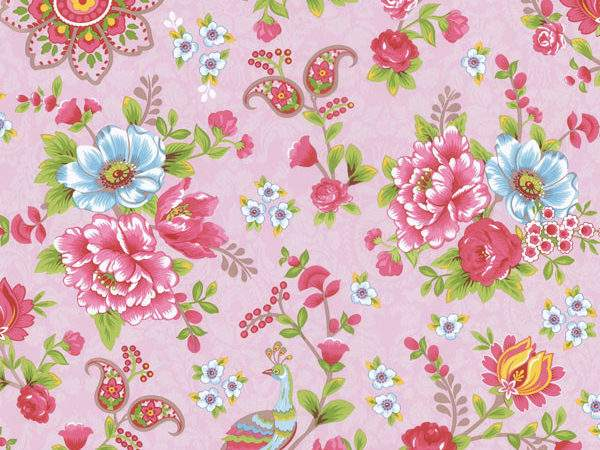 Pink Paisley Floral Traditional