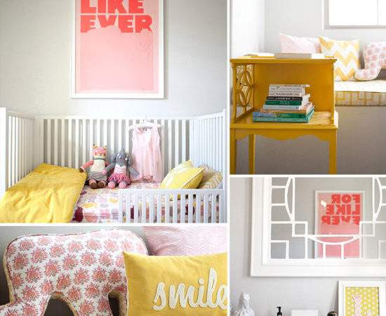 Pink Yellow Girl Nursery Popsugar Moms