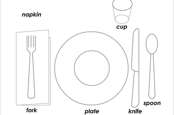 Place Setting Templates Sample Example Format