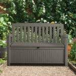 Plastic Garden Storage Bench Box Departments Diy