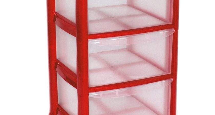 Plastic Large Tower Storage Drawers Chest Unit Wheels