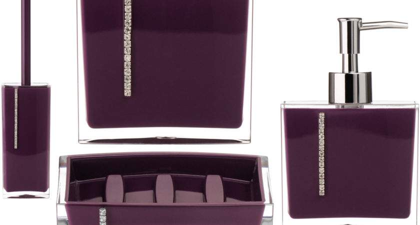 Plum Coloured Bathroom Accessories Web Value
