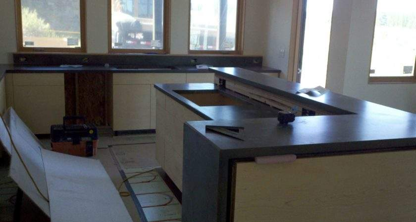 Polished Cement Countertops Cost Also Best Concrete