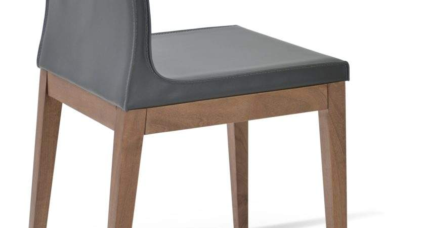 Polo Wood Dining Chair Solid Beech Walnut Color Dark