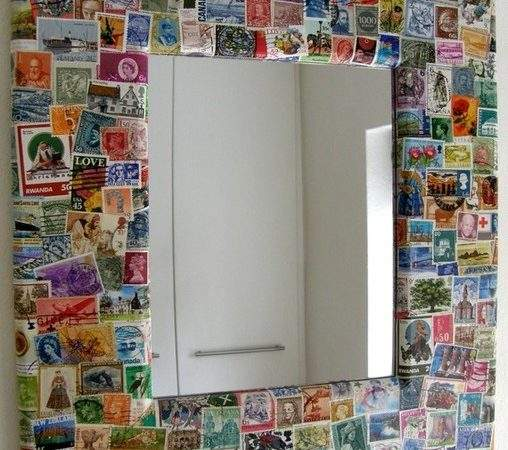 Postage Stamp Wall Mirror Lapengcrafts Etsy