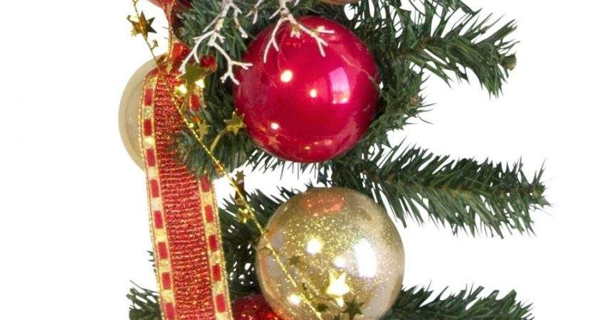 Pre Decorated Red Gold Bauble Garland Garlands