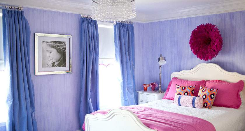 Pretty Stylish Pink Purple Big Girl Room