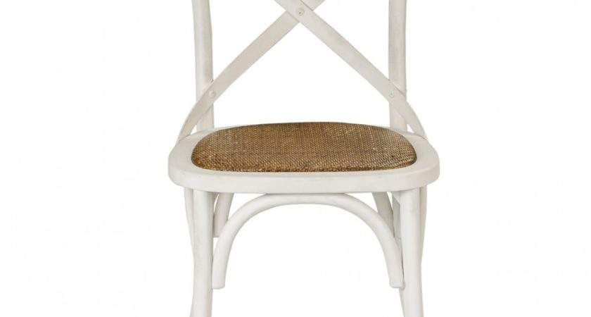 Provincial Cross Back Chair Vintage White