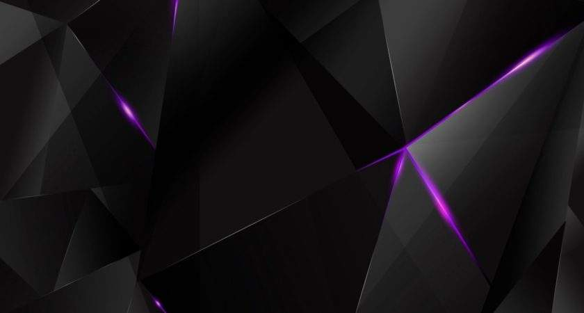 Purple Abstract Polygons Black