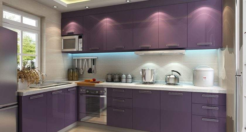 Purple Kitchen Ideas Designed Feminine Style