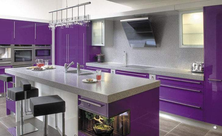 Purple Kitchen Ideas Unique Modern Look Diy Home Art