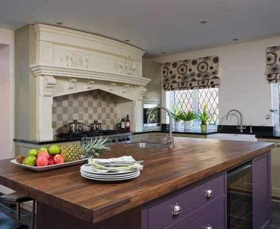 Purple Kitchen Units Kitchens Design Ideas