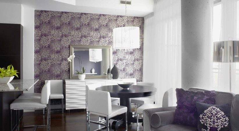 Purple Living Room Contemporary