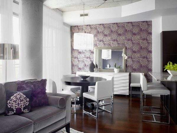 Purple Stunning Looking Living Rooms