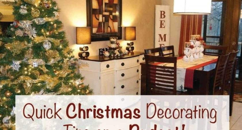 Quick Christmas Decorating Tips Budget Clutterbug