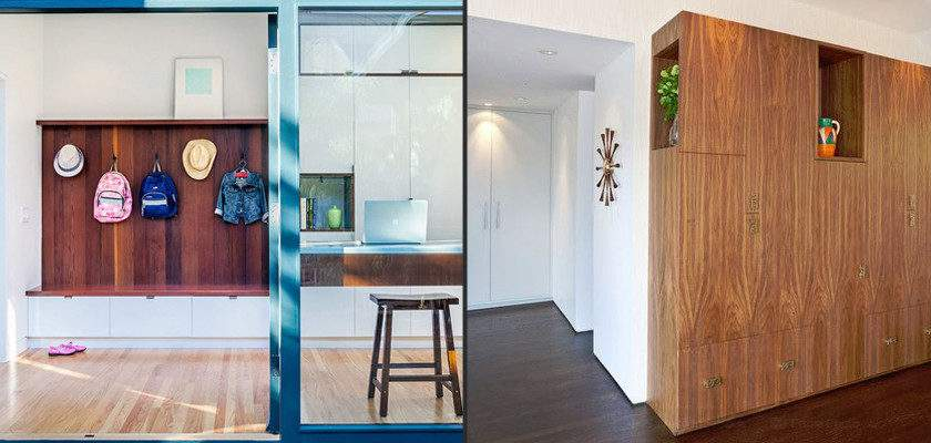 Quirky Practical Hall Storage Solutions Interior