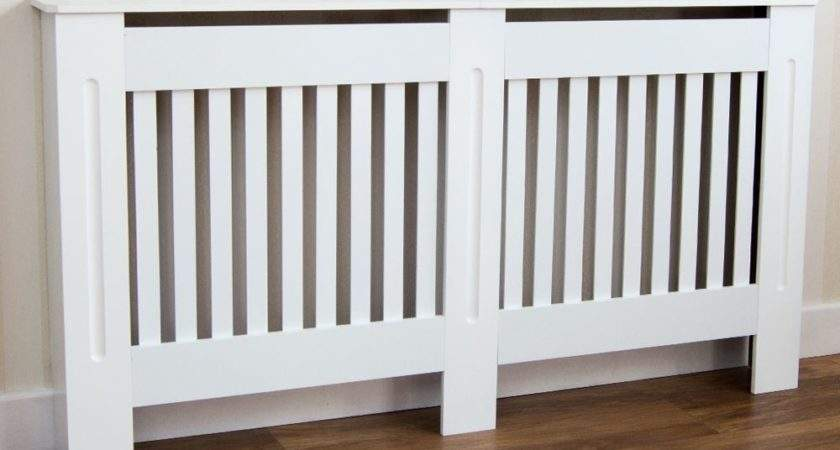 Radiator Cover White Modern Traditional Mdf Wood Grill