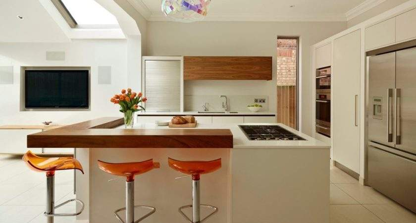 Raised Kitchen Breakfast Bar Contemporary