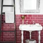 Raspberry Bevel Tile Topps Tiles