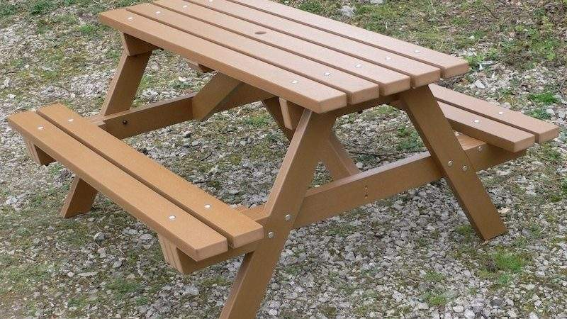 Recycled Plastic Picnic Table Garden Traditional