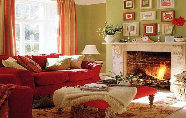 Red Accent Living Room Decor Home Decorations