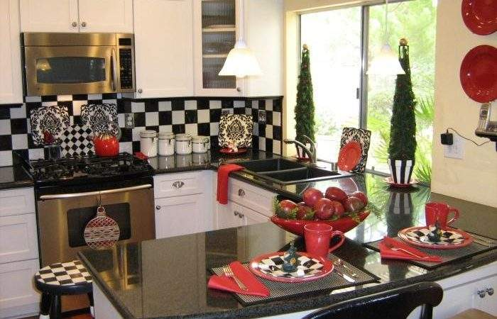 Red Black Kitchen Decorating Ideas Bill House Plans