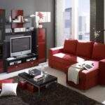 Red Black White Living Room Decorating Ideas Modern