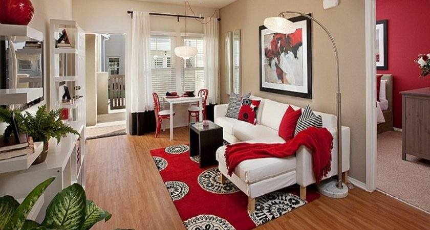 Red Color Living Room Decor Peenmedia