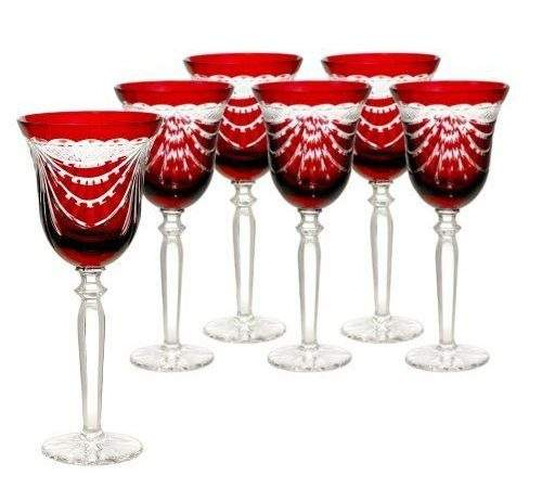 Red Colored Wine Glasses Sosfund